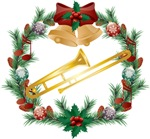 Trombone Christmas Music Gifts and Apparel