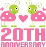 20th Anniversary Pink Ladybug T-shirts