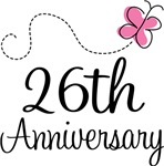 26th Anniversary Pink Butterfly Keepsake Gifts