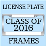 CLASS OF 2016 LICENSE PLATE FRAMES
