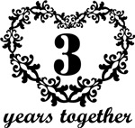 3rd Anniversary Heart Gifts Together