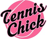 Cute Pink Tennis Chick T-shirts and Gifts