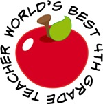 World's Best 4th Grade Teacher Apple Gifts