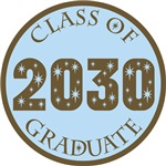 Blue Stars Class Of 2030 T-shirt Gifts