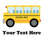 Personalized School Bus T-shirts and Gifts