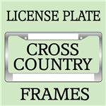 CROSS COUNTRY LICENSE FRAMES AND VANITY PLATES