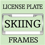 SKIING LICENSE PLATE FRAMES