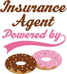 Insurance Agent Powered By Doughnuts Gift T-shirts