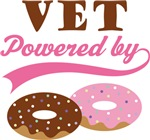 Vet Powered By Doughnuts Gift T-shirts