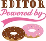Editor Powered By Doughnuts Gift T-shirts