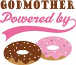 Godmother Powered By Doughnuts Gift T-shirts