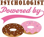 Psychologist Powered By Doughnuts Gift T-shirts