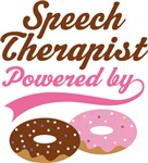 Speech Therapist Powered By Doughnuts T-shirts