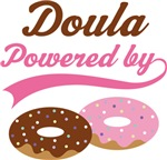 Doula Powered By Doughnuts Gift T-shirts