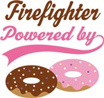 Firefighter Powered By Doughnuts Gift T-shirts