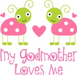 My Godmother Loves Me Kids T-shirts