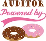 Auditor Powered By Doughnuts Gift T-shirts