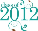 Teal Color Class Of 2012 Graduate Gifts