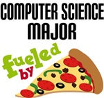 COMPUTER SCIENCE  MAJOR FUELED BY PIZZA T-SHIRTS