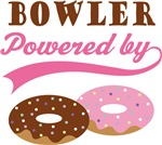 Bowler Powered By Doughnuts Gift T-shirts
