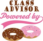 Class Advisor Powered By Donuts Gift T-shirts