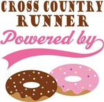 Cross Country Runner Powered By Donuts Gift Tees
