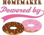Homemaker Powered By Donuts Gift T-shirts