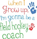 Future Field Hockey Coach Kids T-shirts