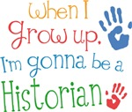 Future Historian Kids T-shirts