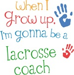 Future Lacrosse Coach Kids T-shirts