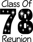 Class of 1978 Reunion Tee Shirts