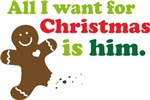 Christmas Couples Cookie Ladies T-shirts