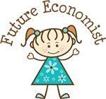 Future Economist Stick Girl Occupation T-shirts