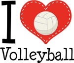 I Heart Volleyball Tees and Gifts
