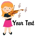 Personalized Violin Girl T-shirts Gifts