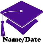 Personalized Purple School Graduation Apparel