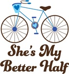 She's My Better Half Bike For Couples T-shirts