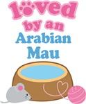 Loved By An Arabian Mau Cat T-shirts