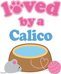 Loved By A Calico Cat T-shirts