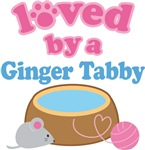 Loved By A Ginger Tabby Cat T-shirts