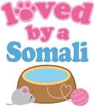 Loved By A Somali Cat T-shirts