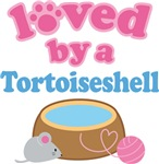 Loved By A Tortoiseshell Cat T-shirts