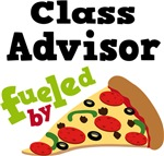 Class Advisor Funny Fueled By Pizza Tshirts