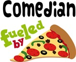 COMEDIAN Funny Fueled By Pizza T-shirts