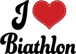 I Heart Biathlon T-shirts and Gifts