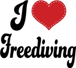 I Heart Freediving T-shirts and Gifts