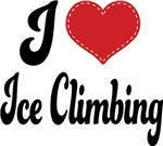 I Heart Ice Climbing T-shirts and Gifts