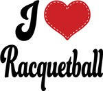 I Heart Racquetball T-shirts and Gifts