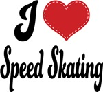 I Heart Speed Skating T-shirts and Gifts