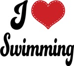 I Heart Swimming T-shirts and Gifts